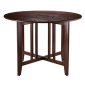 Alamo Double Drop Leaf Round 42'' Table Mission in Antique Walnut