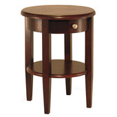 Concord Round End Table in Antique Walnut 17-5/16''W x 17-5/16''D x 22-1/2''H