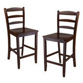 24'' Counter Ladder Back Stool, Set of 2