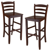 29'' Bar Ladder Back Stool, Set of 2