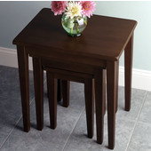 Regalia Nesting Table in Antique Walnut Finish Set  of 3 Pieces