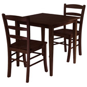 Groveland 3-Pc. Dining Set, Square Table with 2 Chairs, Antique Walnut