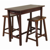 Kitchen Island Set w/ 2 Saddle Seat Stools