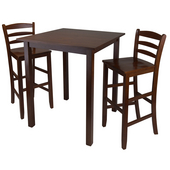 Parkland 3-Pc. Set, Includes Drop Leaf High Table and 2- 29'' Ladder Back Stools