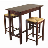 Kitchen Island Set w/ 2 Rush Stools