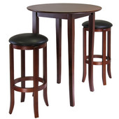 Fiona Round 3-Pc. High/Pub Table Set, Antique Walnut