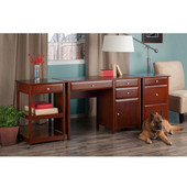 Delta Collection 3-Piece Home Office Set in Walnut, 47-1/4'' W x 20-1/4'' D x 30-23/32'' H