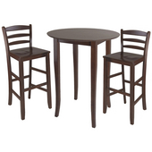 Fiona 3-Pc. Set, Includes High Round Table and 2 Ladder Back Stools