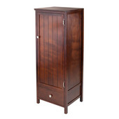 Brooke Jelly Close Cupboard with Door and Drawer in Antique Walnut