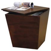 Storage Cube Table, Walnut finish