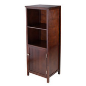 Brooke Jelly Cupboard with 2 Shelves and Door in Antique Walnut