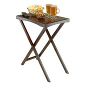 Devon Butler TV Table with Serving Tray, Walnut, 24''W x 14-11/16''D x 29-1/2''H