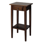 Regalia Phone/Plant Stand Table in Antique Walnut Finish 17''W x 14''D x 29.5''H