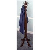 Coat Rack in Antique Walnut Finish 23.8'' W x 23.8'' D x 73.8'' H