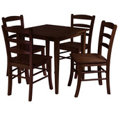 Groveland 5-Pc. Dining Set, Square Table with 4 Chairs, Antique Walnut