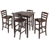 Parkland 5-Pc. Set, Includes High Table and 4- 29'' Ladder Back Stools