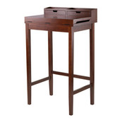 Brighton High Desk with 2 Drawers in Antique Walnut, 27-15/16''W x 19-15/16''D x 45-15/16''H