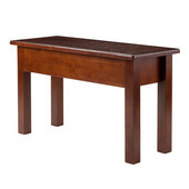 Emmett Bench with Seat Storage in Walnut , 29-15/16''W x 12''D x 17-7/16''H