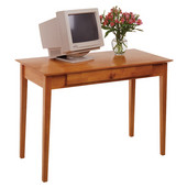 Studio Shaker-Style Computer Desk in Honey Pine Finish 42''W x 20''D x 29''H