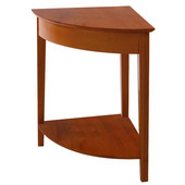 Studio Shaker-Style Corner Table in Honey Pine Finish 20'' x 20'' x 29''