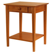 Studio Printer Desk/Stand in Honey Pine Finish 23'' x 20''x 29''