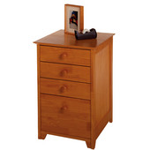 Studio Shaker-Style File Cabinet with 3 Drawers in Honey Pine Finish 18.75''W x 20''D x 29''H