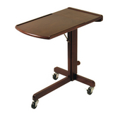Adjustable Laptop Cart in Antique Walnut