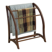 Blanket Rack in Antique Walnut