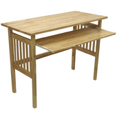 Beechwood Mission Folding Desk in Natural Finish