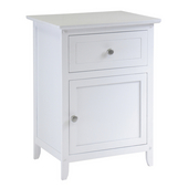 Night Stand/ Accent Table, White