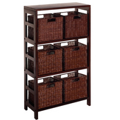 Winsome - Leo 7Pc Shelf and Baskets