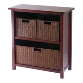 Winsome - Milan 4Pc Cabinet/Shelf with 3 Baskets