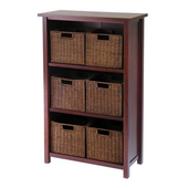 Winsome - Milan 7Pc Cabinet/Shelf