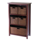 Winsome - Milan 6Pc Cabinet/Shelf