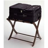 Folding Luggage Rack 19'' W x 27'' D x 20'' H, Antique Walnut