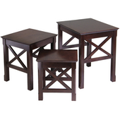 Xola 3-Pc. Nesting Table, Cappuccino, 17-3/10''W x 21-1/10''D x 22-1/10''H