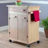Kitchen Cart, Beechwood, 26-9/10'' W x 18-1/5'' D x 34'' H
