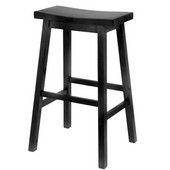 Winsome - 29'' Saddle Seat Bar Stool, Black