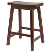 Winsome - 24'' Saddle Seat Bar Stool, Walnut