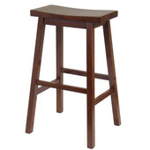 Winsome - 29'' Saddle Seat Bar Stool, Walnut