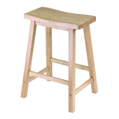 Winsome - 24'' Saddle Seat Bar Stool