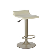 Single Airlift Swivel Stool with Beige PVC Seat, Adjustable 25-1/4'' - 30-3/4''