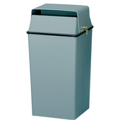 Classic Security Receptacle with Lock and Keys, Almond, 36 Gallons, 19''W x 19''D x 38''H