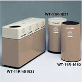 #WT-11R-481631-DC11, Fiberglass Combinations Recycling Container,48Inwx 16Indx 31Inh, Made To Order, Alabaster