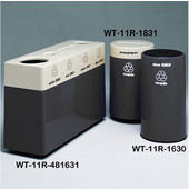 #WT-11R-481631-DC34, Fiberglass Combinations Recycling Container,48Inwx 16Indx 31Inh, Made To Order, Black