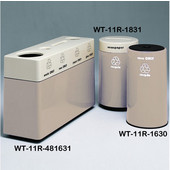#WT-11R-481631-DC46, Fiberglass Combinations Recycling Container,48Inwx 16Indx 31Inh, Made To Order, Bone