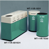 #WT-11R-481631-PD34, Fiberglass Combinations Recycling Container,48Inwx 16Indx 31Inh, Made To Order, Calypso
