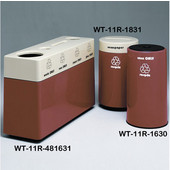#WT-11R-481631-PD25, Fiberglass Combinations Recycling Container,48Inwx 16Indx 31Inh, Made To Order, Cinnamon