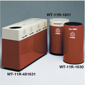 #WT-11R-481631-PD24, Fiberglass Combinations Recycling Container,48Inwx 16Indx 31Inh, Made To Order, Indiana Clay