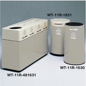 #WT-11R-481631-PD8, Fiberglass Combinations Recycling Container,48Inwx 16Indx 31Inh, Made To Order, Dove Gray
